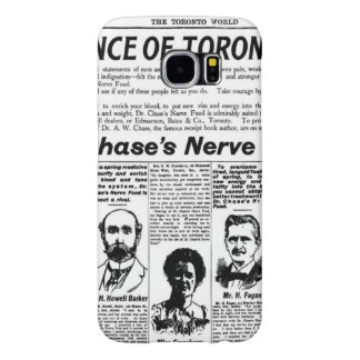 Toronto people vintage newspaper samsung galaxy s6 cases