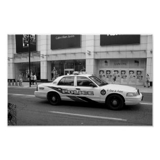 Toronto Police Car Black And White Photography Poster