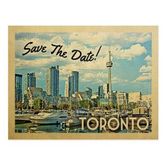 Toronto Save The Date Vintage Canada Wedding Postcard