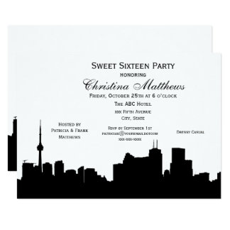 Toronto Silhouette DIY BG Color Sweet 16 Card
