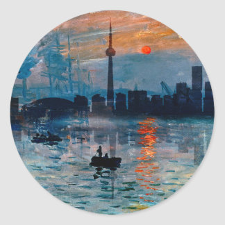 Toronto Skyline40 Classic Round Sticker