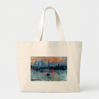Toronto Skyline40 Large Tote Bag