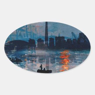 Toronto Skyline40 Oval Sticker