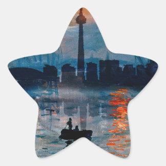 Toronto Skyline40 Star Sticker