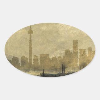 Toronto Skyline 41 Oval Sticker
