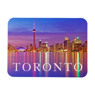 Toronto Skyline at Dusk Magnet