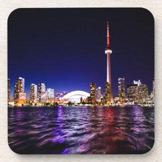Toronto Skyline at Night Coasters