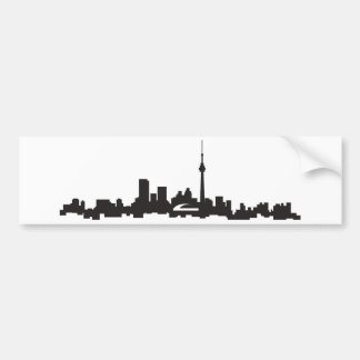 Toronto skyline bumper sticker