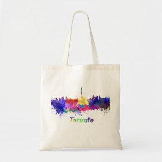 Toronto skyline in watercolor