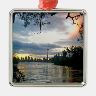 Toronto Skyline Metal Ornament