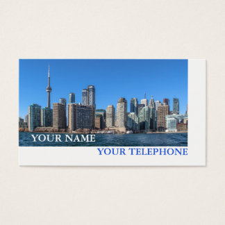 Toronto Skyline Real Estate or Tourist Agent Business Card