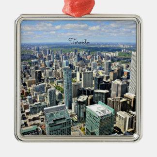 Toronto Skyscrapers - Toronto, Ontario, Canada Metal Ornament