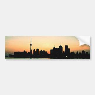 Toronto Sunset Bumper Sticker