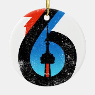 Toronto The Six Ceramic Ornament