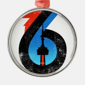 Toronto The Six Metal Ornament
