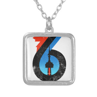 Toronto The Six Silver Plated Necklace