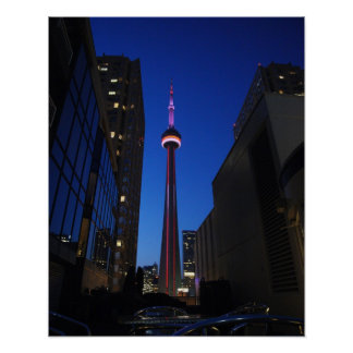 Toronto Tower Night Poster