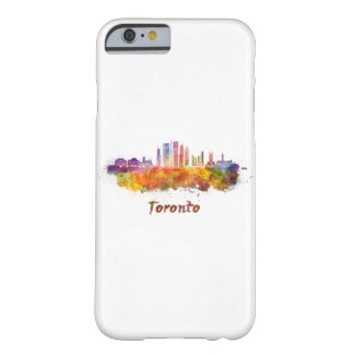 Toronto V2 skyline in watercolor Barely There iPhone 6 Case