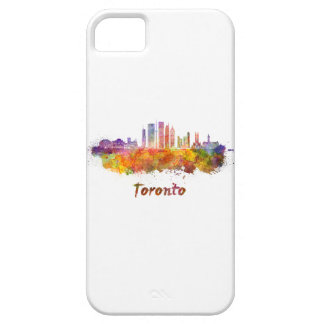 Toronto V2 skyline in watercolor Case For The iPhone 5