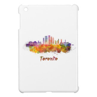 Toronto V2 skyline in watercolor iPad Mini Covers