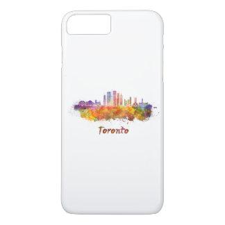 Toronto V2 skyline in watercolor iPhone 7 Plus Case