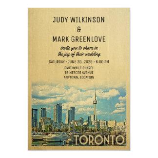 Toronto Wedding Invitation Vintage Canada