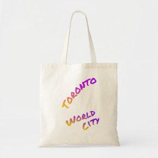 Toronto world city, colorful text art