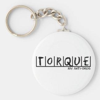 Torque Anti-Drug Basic Round Button Key Ring