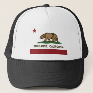 torrance california flag trucker hat