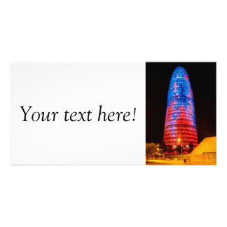 Torre Agbar at night, Barcelona Picture Card