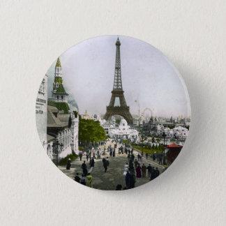 Torre Eiffel Universal Exhibition of Paris 6 Cm Round Badge