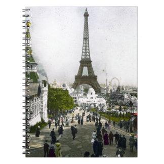 Torre Eiffel Universal Exhibition of Paris Notebook
