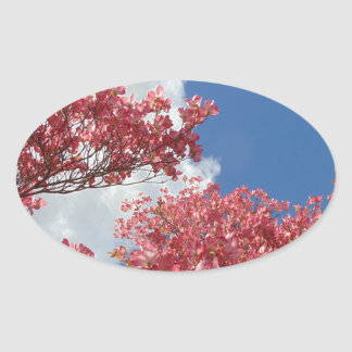 Torrent of Blossoms Oval Sticker
