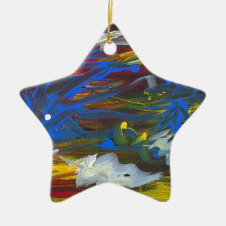 Torrent of the Seasons Ceramic Star Decoration