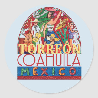 TORREON Mexico Classic Round Sticker