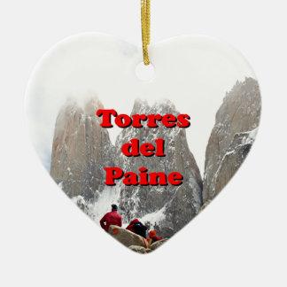 Torres del Paine: Chile Ceramic Heart Decoration