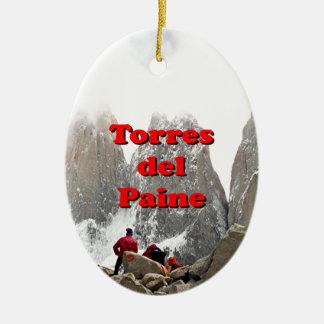 Torres del Paine: Chile Ceramic Oval Decoration