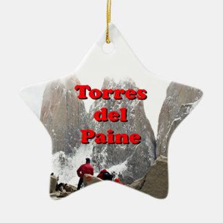 Torres del Paine: Chile Ceramic Star Decoration