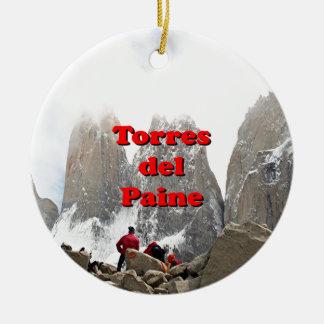 Torres del Paine: Chile Round Ceramic Decoration