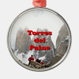 Torres del Paine: Chile Silver-Colored Round Decoration
