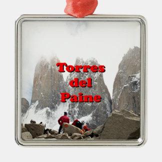 Torres del Paine: Chile Silver-Colored Square Decoration