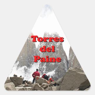 Torres del Paine: Chile Triangle Sticker