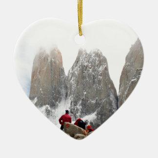 Torres del Paine National Park, Chile Ceramic Heart Decoration