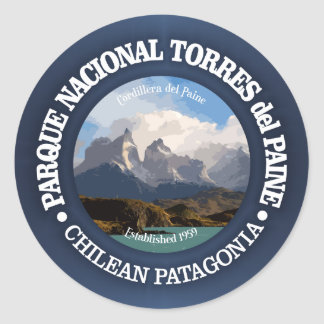Torres del Paine National Park Classic Round Sticker