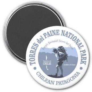 Torres del Paine NP 7.5 Cm Round Magnet