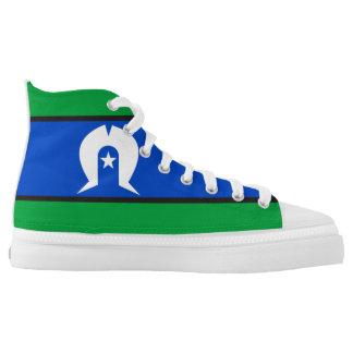 Torres Strait Islander flag symbol Printed Shoes