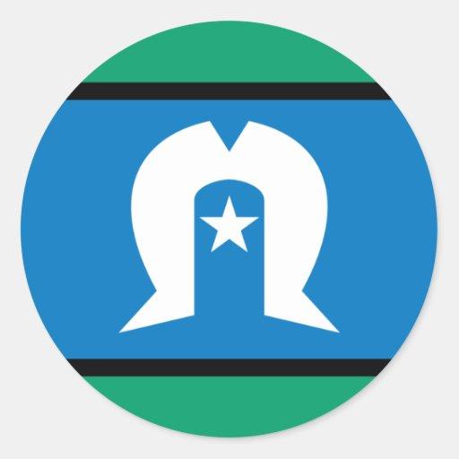 torresstrait islanders, Australia Round Stickers