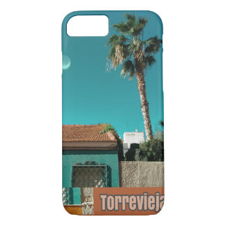 Torrevieja in Orange and Turqoise iPhone 8/7 Case