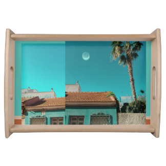 Torrevieja in Orange and Turqoise Serving Tray