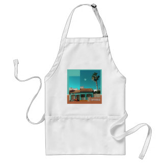 Torrevieja in Orange and Turqoise Standard Apron